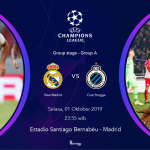 live streaming Real Madrid vs Club brugge
