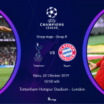 live streaming Tottenham vs Bayern