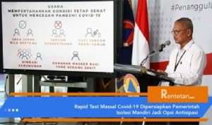 Rapid Test Massal Covid-19 Dipersiapkan Pemerintah
