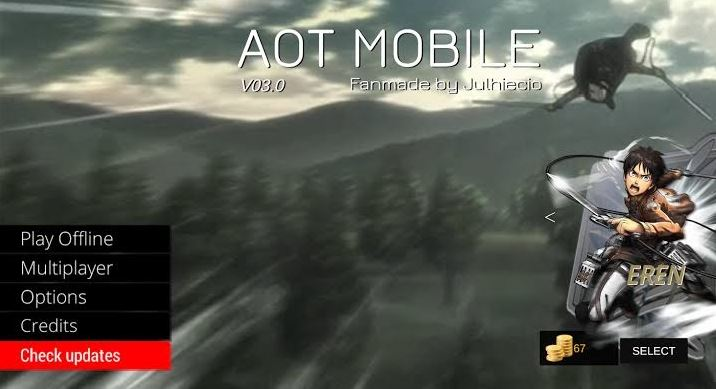 Download AOT Mobile Game Fanmade Attack on Titan
